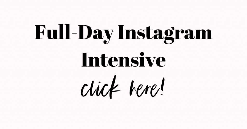 Instagram Coach, Instagram Intensive, Lattes for Lunch